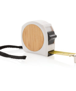 Bamboo measuring tape 5M/19mm white
