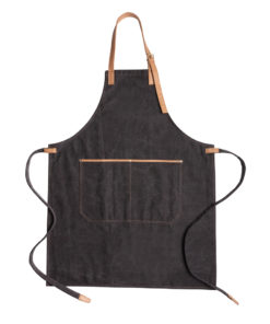 Deluxe canvas chef apron black P262.821