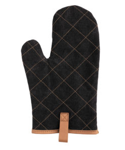 Deluxe canvas oven mitt black P262.831