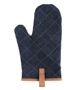 Deluxe canvas oven mitt blue P262.835
