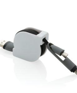 3-in-1 retractable cable black P302.221