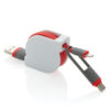 3-in-1 retractable cable red P302.224