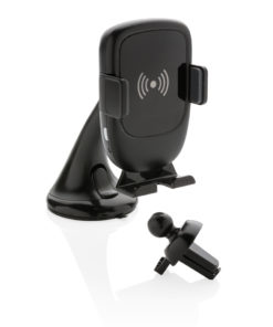 Auto Clamping Phone holder 5W wireless charging black P302.601