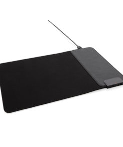 Mousepad with 15W wireless charging and USB ports black P308.211
