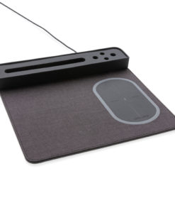 Air mousepad with 5W wireless charging and USB black P308.251