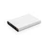 Aluminium 5.000 mAh pocket powerbank silver