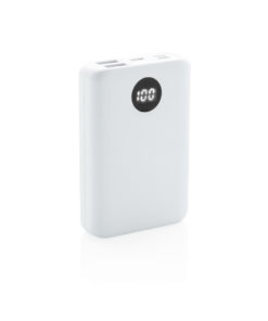10.000 mAh pocket powerbank with triple input white P322.033