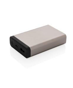 10.000 mAh Aluminium pocket powerbank anthracite P322.070