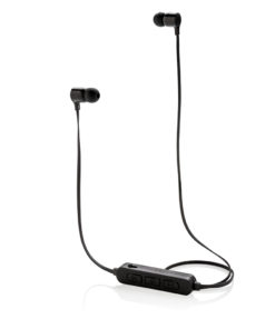 Light up logo wireless earbuds black P328.041