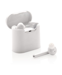 Liberty wireless earbuds in charging case white P329.013