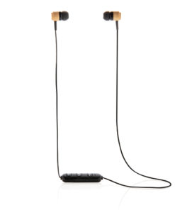 Bamboo wireless earbuds brown