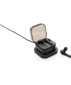 TWS earbuds in wireless charging case black P329.121