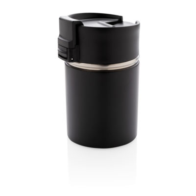 Bogota compact vacuum mug with ceramic coating black P432.241