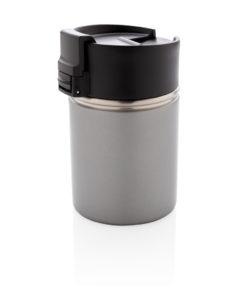 Bogota compact vacuum mug with ceramic coating grey P432.242