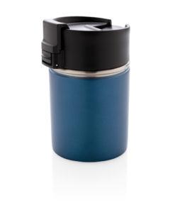 Bogota compact vacuum mug with ceramic coating blue P432.245