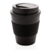 Reusable Coffee cup with screw lid 350ml black P432.681