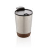 Cork coffee tumbler silver P432.772