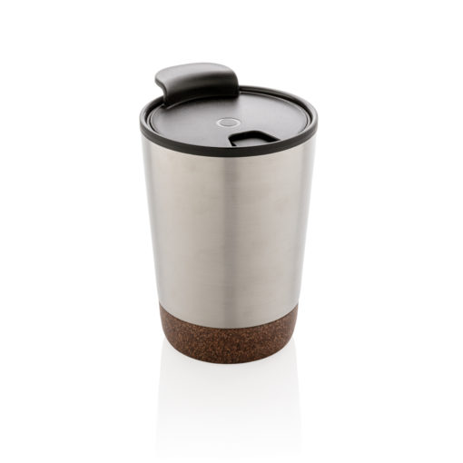 Cork coffee tumbler silver P432.772