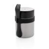 Bogota food flask with ceramic coating silver
