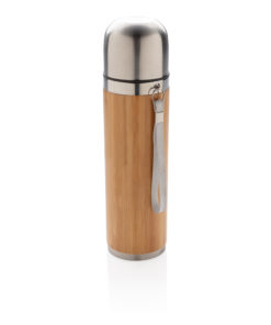 Bamboo vacuum travel flask brown P433.329