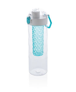 Honeycomb lockable leak proof infuser bottle turquoise P436.265