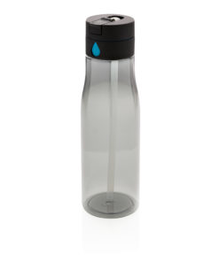 Aqua hydration tracking bottle with spout black