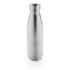 Vacuum insulated stainless steel bottle silver P436.492