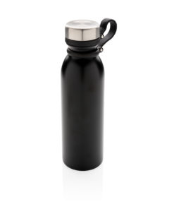 Copper vacuum insulated bottle with carry loop black P436.711