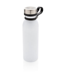 Copper vacuum insulated bottle with carry loop white P436.713