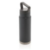 Leakproof vacuum on-the-go bottle with handle grey P436.922