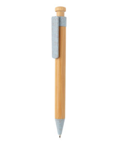 Bamboo pen with wheatstraw clip blue P610.545