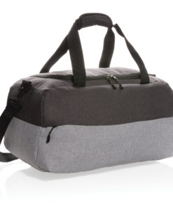 Duo color RPET RFID weekend bag PVC free grey P707.262