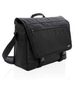 """Swiss Peak RFID 15"""" laptop messenger bag PVC free black P729.341"""
