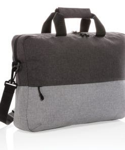 "Duo color RPET 15.6"" RFID laptop bag PVC free grey P732.082"