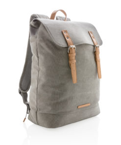 Canvas laptop backpack PVC free grey P762.462