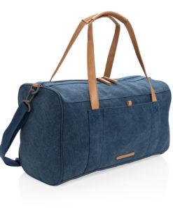 Canvas travel/weekend bag PVC free blue P762.475