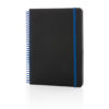 Deluxe A5 notebook with spiral ring blue