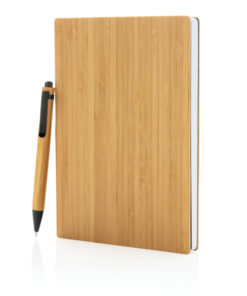 A5 Bamboo notebook & pen set brown P772.159