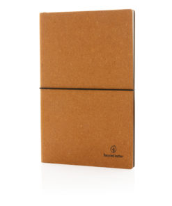 A5 recycled leather notebook brown P772.219