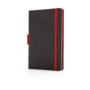 Deluxe A5 notebook with pen holder red P772.854