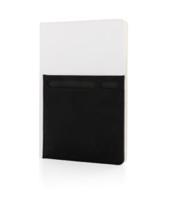 A5 Deluxe notebook with smart pockets white P773.013