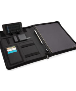 Air 5W RPET wireless charging portfolio A4 black P774.041