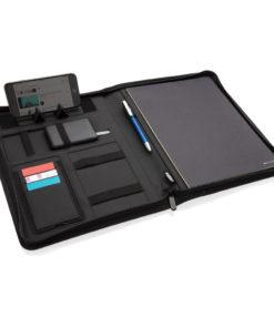 Air 5W RPET wireless charging portfolio A4 grey P774.042