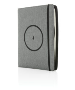 Air 5W RPET wireless charging notebook cover A5 grey P774.052