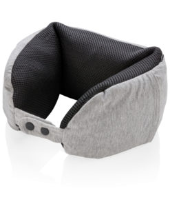 Deluxe microbead travel pillow grey