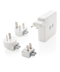 Travel adapter wireless powerbank white P820.551