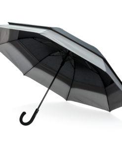 "Swiss Peak 23"" to 27"" expandable umbrella black"