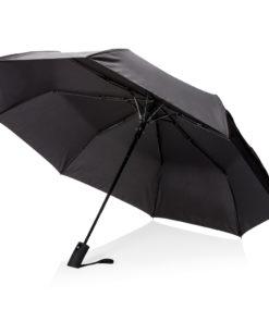 """Deluxe 21"""" foldable auto open umbrella black P850.271"""
