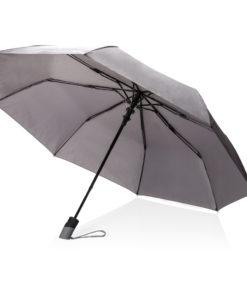 "Deluxe 21"" foldable auto open umbrella grey P850.272"