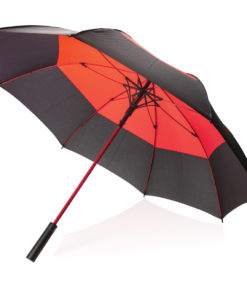 "27"" auto open duo colour storm proof umbrella red P850.294"
